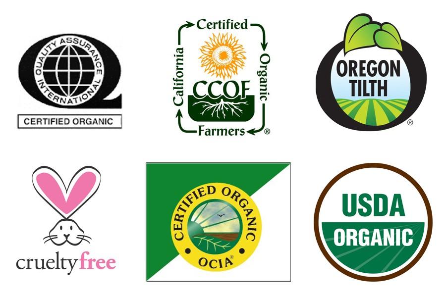 John Masters Organics certyfikaty