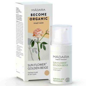 Madara Sun Flower Golden Beige | Fluid tonujący do twarzy 15 ml
