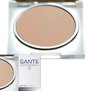 Olejek jojoba w kosmetyce | Puder w kompakcie 02 Light Beige Sante
