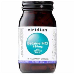 Viridian Betaina HCL z goryczką 90 kapsułek
