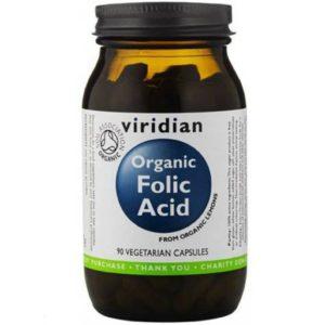 Ekologiczny kwas foliowy Viridian 90 kapsułek