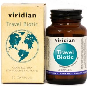 Viridian Travel biotic Saccharomyces Boulardii 30 kapsułek