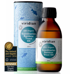 Ekologiczny olej z pstrąga tęczowego Viridian