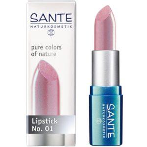 Organiczna pomadka do ust 01 Light Pink Sante 4.5 g