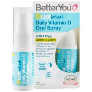 BetterYou DLUX witamina D dla niemowląt w sprayu 15 ml