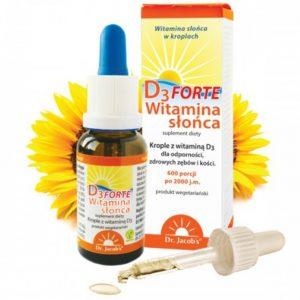 dr Jacobs witamina słońca D3 Forte 20 ml