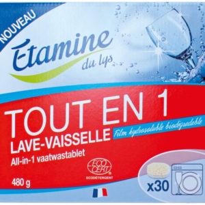 Bezzapachowe tabletki do zmywarek All-in-One Etamine du Lys 30 szt.