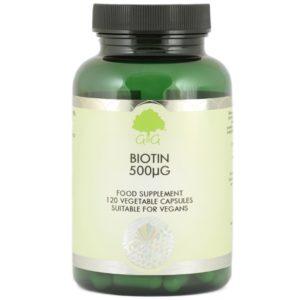 GG Biotyna 500 µg 120 kapsułek