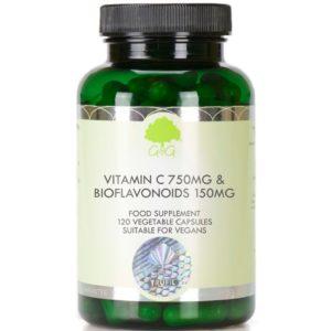 GG Witamina C 750 mg z bioflawonoidami 120 kapsułek