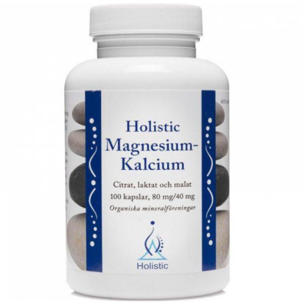 Holistic Magnesium Kalcium 100 kaps. | Naturalny magnez i wapń