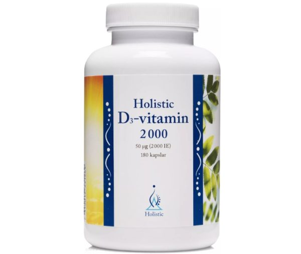 Holistic D3-vitamin 2000 IE 180 kapsułek