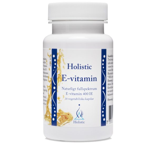 Holistic E-vitamin 30 kaps. | Witamina E tokoferole i tokotrienole