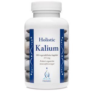 Holistic Kalium 255 mg 100 kaps. | Potas naturalny w suplemencie diety