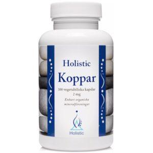 Holistic Koppar 2 mg 100 kapsułek | Miedź organiczna