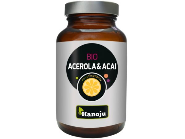 Hanoju Bio Acerola 200 mg + Bio Acai 200 mg 90 kapsułek