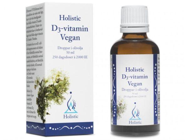 Holistic d3-vitamin vegan 50 ml   Witamina D3 dla wegan z porostów