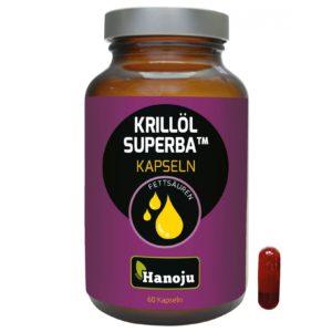 Hanoju Olej z kryla Superba 500 mg 60 kapsułek