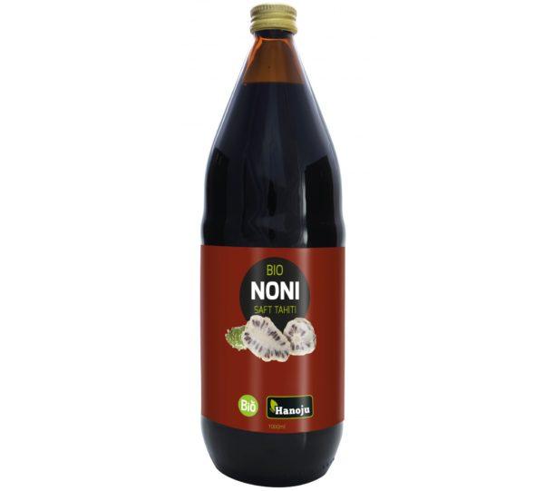 Hanoju Noni Saft Tahiti 1 L   Organiczny sok z Morinda citrifolia L