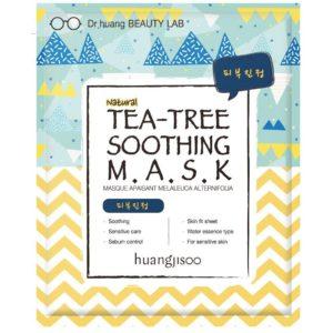 Huangjisoo Tea Tree Maska do twarzy w płachcie łagodząco-równoważąca