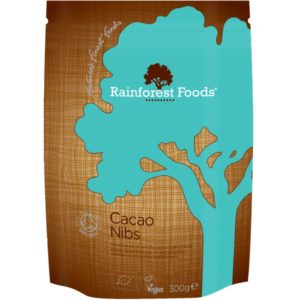Śruta kakaowa surowe Rainforest Foods kakao surowe kruszone BIO 300 g