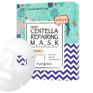Huangjisoo Centella Maska do twarzy w płachcie regenerująco-naprawcza