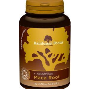 Korzeń maca Rainforest Foods 500 mg 120 kapsułek