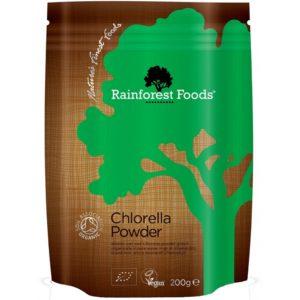 Chlorella Rainforest Foods proszek 200 g