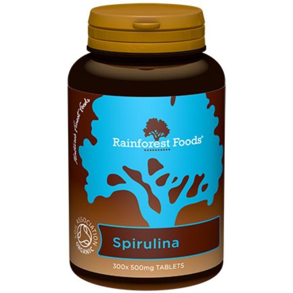 Rainforest Foods Spirulina Bio 500 mg 300 tabl.