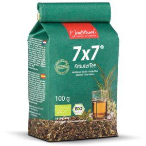 Jentschura Kräutertee 7x7 100 g | Mieszanka roślinna odkwaszająca