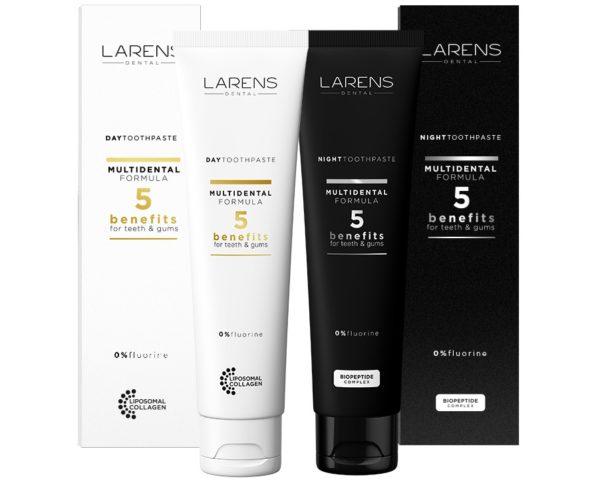 Larens Dental Day & Night Toothpastes Set