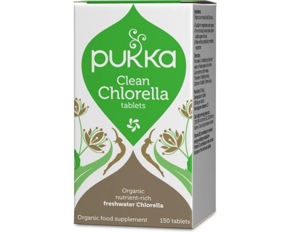 Clean Chlorella Pukka Herbs 150 tabletek