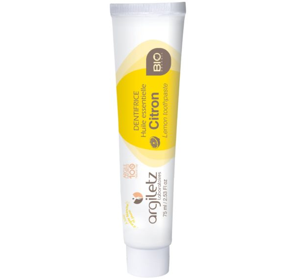 Argiletz cytrynowa pasta do zębów bio 75 ml