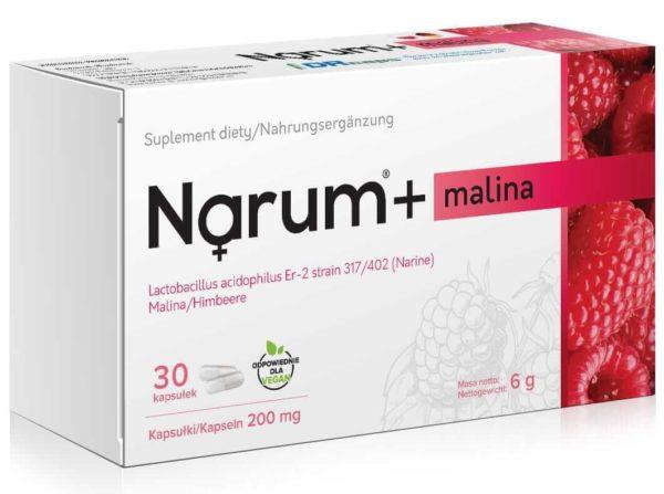 Narum Malina 200 mg 30 kapsułek
