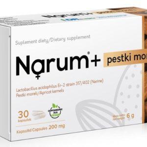Narum Pestki moreli 200 mg 30 kapsułek