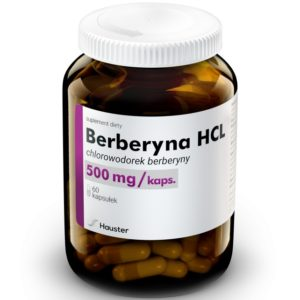 Berberyna HCL Hauster 500 mg 60 kapsułek