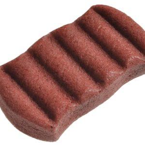 Gąbka Konjac do ciała z czerwoną glinką