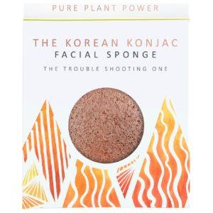 Gąbka Konjac Premium The Elements Ogień dla cery problematycznej i tłustej