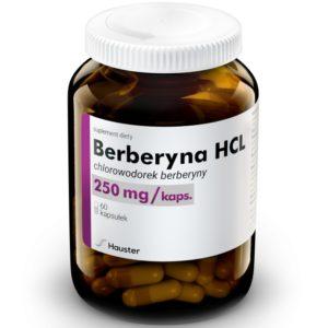 Hauster Berberyna HCL 250 mg 60 kapsułek
