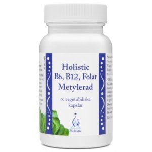 Holistic B6, B12, Folat Metylerad 60 kapsułki | Metylowane składniki