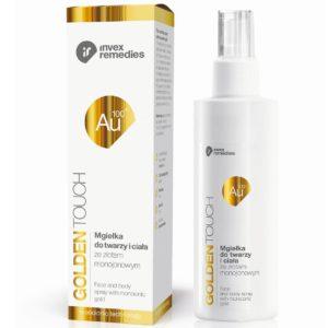 Invex Remedies Golden Touch Au100 100PPM | Mgiełka do twarzy i ciała