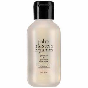 John Masters Organics Geranium i grejpfrut mini żel pod prysznic 60 ml
