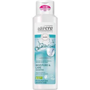 Łagodny szampon nawilżający z mleczkiem migdałowym i aloesem Lavera