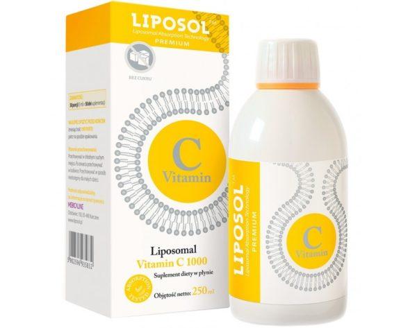 Liposol liposomalna witamina C 1000 250 ml | Buforowana witamina