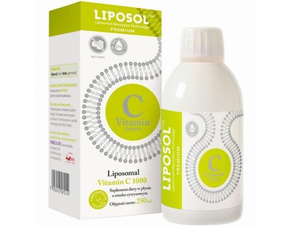 Liposomalna witamina C 1000 Liposol o smaku cytrynowym 250 ml