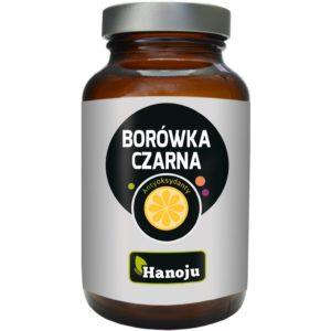 Naturalny ekstrakt z borówki czarnej 25% 400 mg Hanoju 90 kaps.