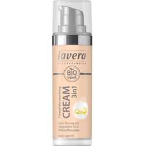 Nawilżający krem tonujący Lavera z koenzymem Q10 3w1 Ivory Light