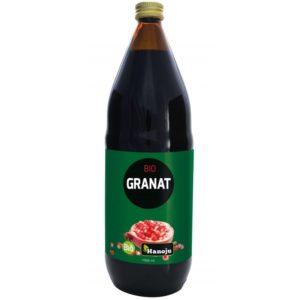Organiczny sok z owoców GRANATU 100% Hanoju 1 L