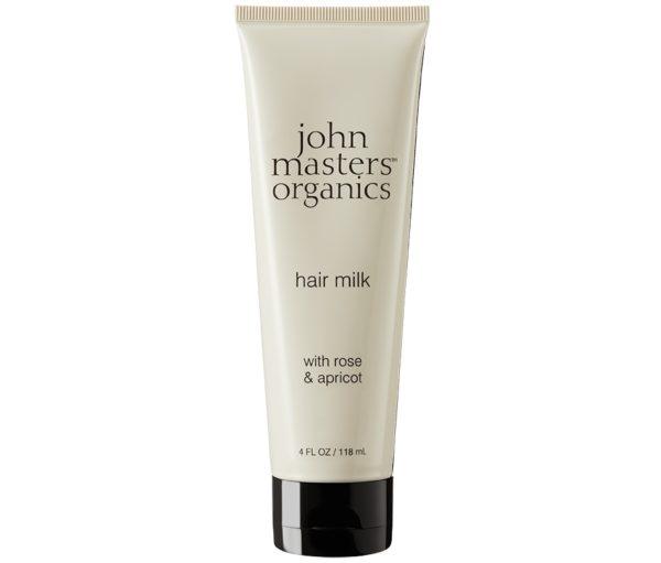 Róża i morela odżywcze mleczko do włosów John Masters Organics 118 ml