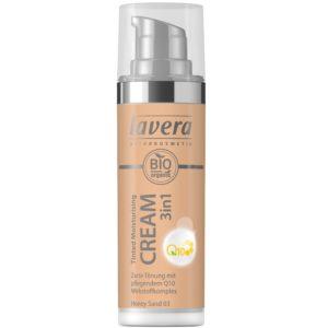 Tonujący krem nawilżąjący 3w1 z koenzymem Q10 Honey Sand 03 Lavera 30 ml