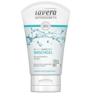 Żel do mycia twarzy z bio-aloesem i jojobą Basis Sensitiv Lavera 125 ml